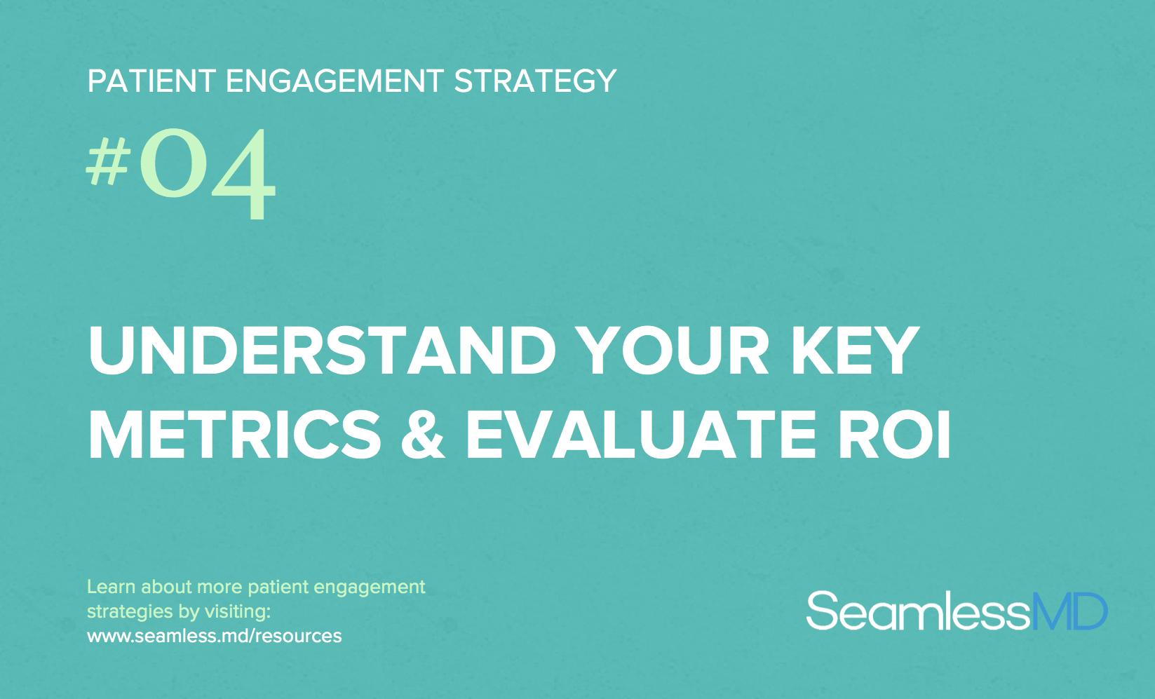 evaluate ROI for patient engagement